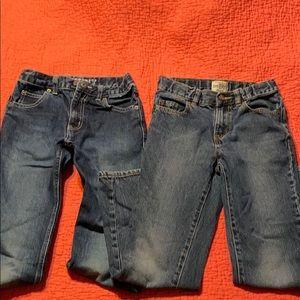 2 pairs jeans size 8 Gymboree & Children's Place